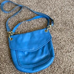 Blue fossil purse
